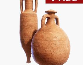 3D asset Roman Amphora Pack FREE