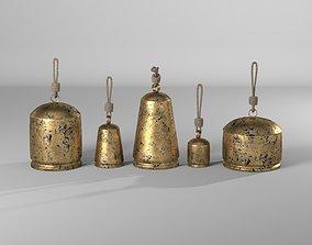Lobdell 5 Piece Temple Bells Chime Set 3D model