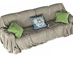 Covered sofa 3D