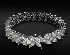 3D print model Neat stylish tennis bracelet with diamonds