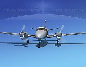 3D model Beechcraft King Air 90 Bare Metal