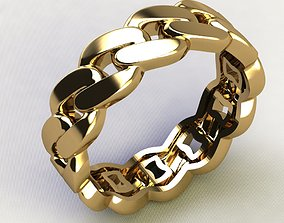 Cuban Chain Ring light 2 ver 3D printable model
