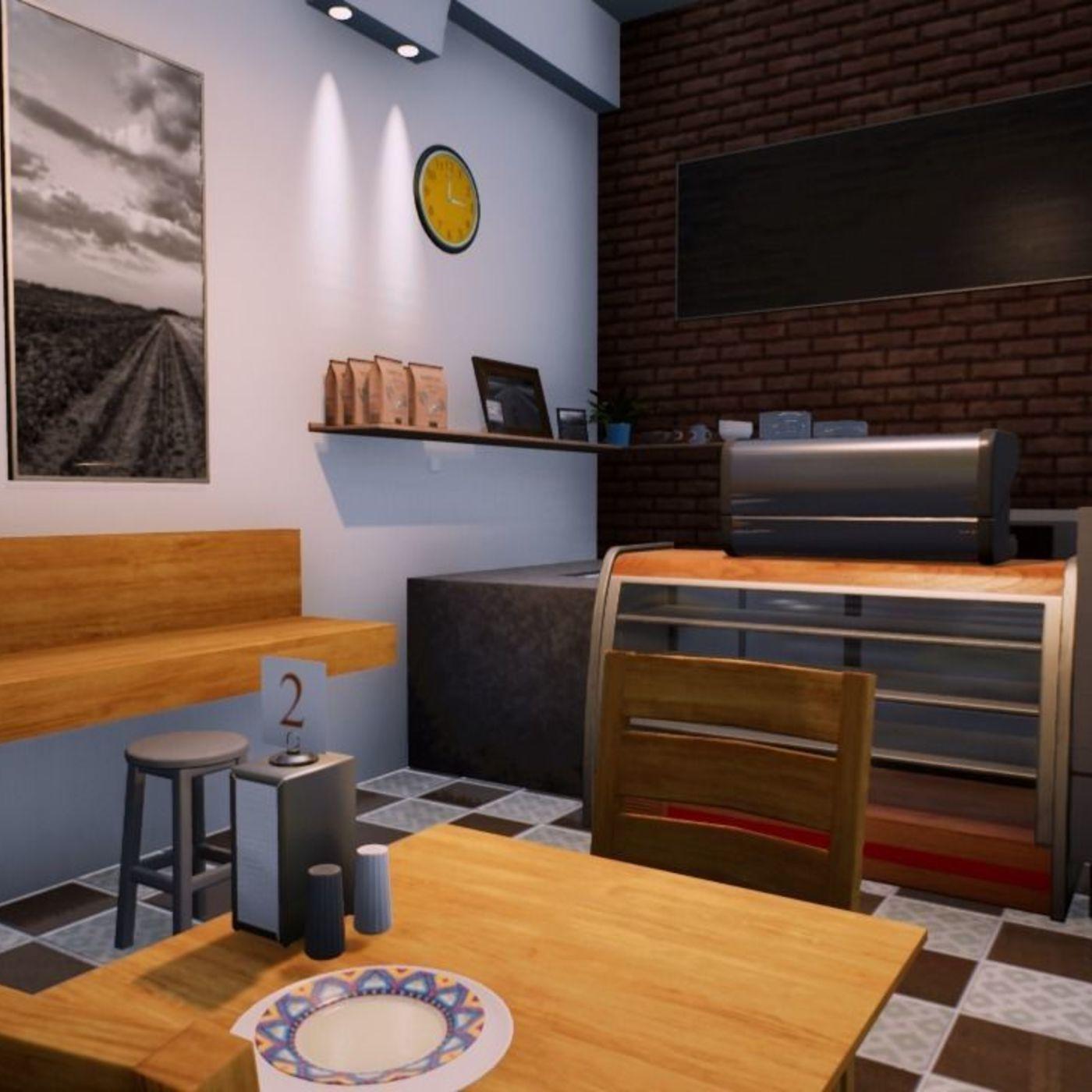 Cafe Scene in UE4