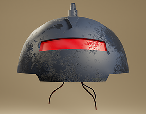 3D asset game-ready SatAM SWAT Bot Head