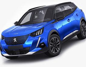 Peugeot e-2008 2020 3D model