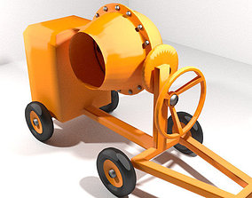 Concrete Mixer Machine - Type 1 3D model