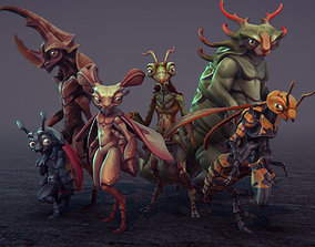 Insect Characters 3D asset