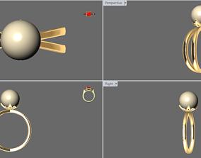 3D printable model Simple Pearl Ring