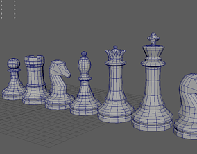 furniture 3D model Chess pieces