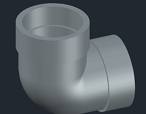 3D printable model Elbow pipe