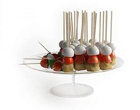 Starter Food On Skewers 3D model