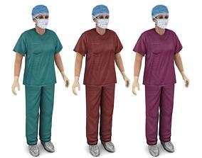 3D asset Woman doctor