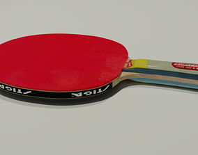 Table tennis racket 3D model ping