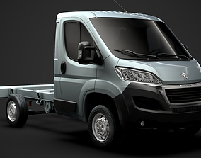 3D Peugeot Boxer Manager Chassis Truck Single Cab 3000WB 1