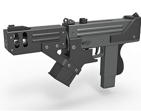 3D model Submachine gun modified MAC-10 from the movie 2