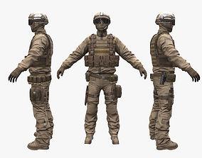 3D asset Soldier Support