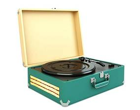 Phonograph Turntable For Records 3D model