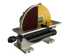 3D model Disk sander Grind abrasive machine Clean