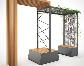 3D Bench or Table Set with Shelter - MODEL 6