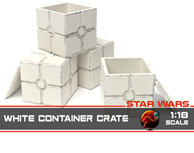 Star Wars white container crate 1-18 3D printable model 1