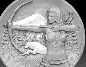 sagittarius zodiac pendant 3D print model