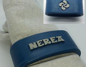 NEREA 3D Napkin Ring with lauburu