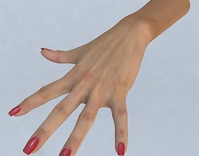 game-ready Hand 3d model left female