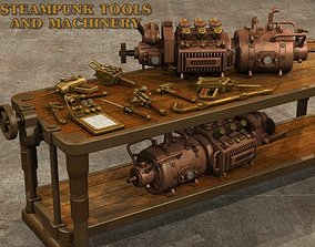 3D model Steampunk Tools and Machinery