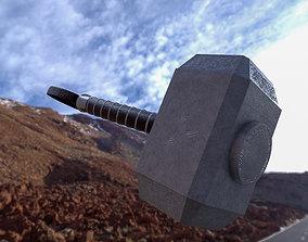 Mjolnir 3D model marmosettoolbag