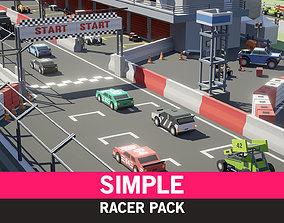 Simple Racer - Cartoon Assets VR / AR ready