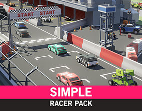 Simple Racer - Cartoon Assets VR / AR ready