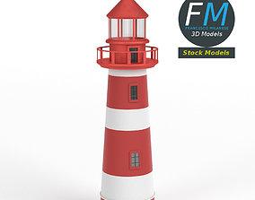Lighthouse game 3D model PBR