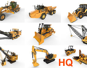 3D model 10 Industrial vehicles High Quality