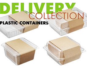 Delivery Plastic Containers 3D