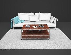 books Living Room Set 3D