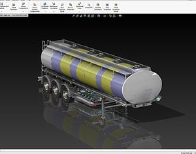 Fuel Tanker 35000L Deisal Tanker 3D long-trailer