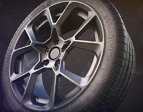 Realistic Car Tire - Michelin Sport Cup 2 3D