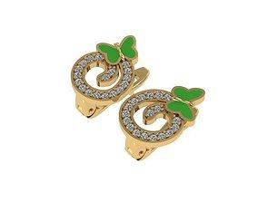 Earrings kids small butterflies 3D print model