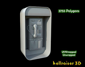 3D model low-poly Payphone