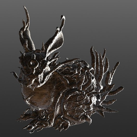 Rabtree the rigged spooky rabbit of the forest 3D model