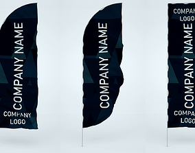 Animated Banner Flags 3D