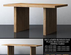 RECLAIMED RUSSIAN OAK PLANK RECTANGULAR DINING 3D model