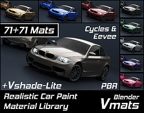VMATS Car Paint Material Library for Blender 3D model 2
