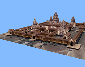 Angkor Wat monument Cambodia low-poly 3d model realtime