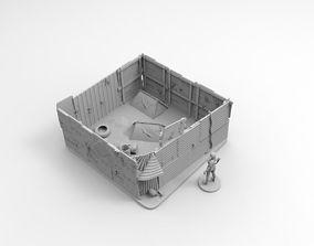 Post Apocalyptic Zombie Safe Zone 3D print model