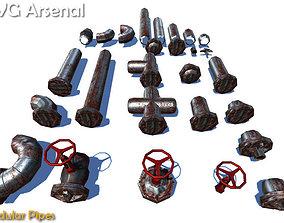 Modular Pipes 3D asset