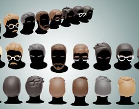 Base Haircuts 17-24 3D model VR / AR ready
