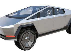 Tesla Cybertruck 3D asset low-poly