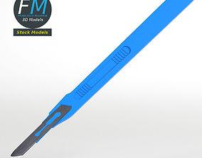 3D model Disposable scalpel 1