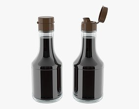3D Soy sauce in a bottle 05